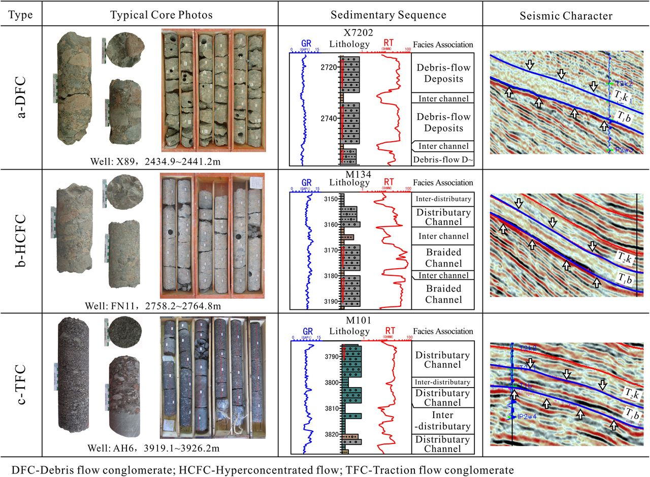 Conglomerate categories in coarse-grained deltas and their controls