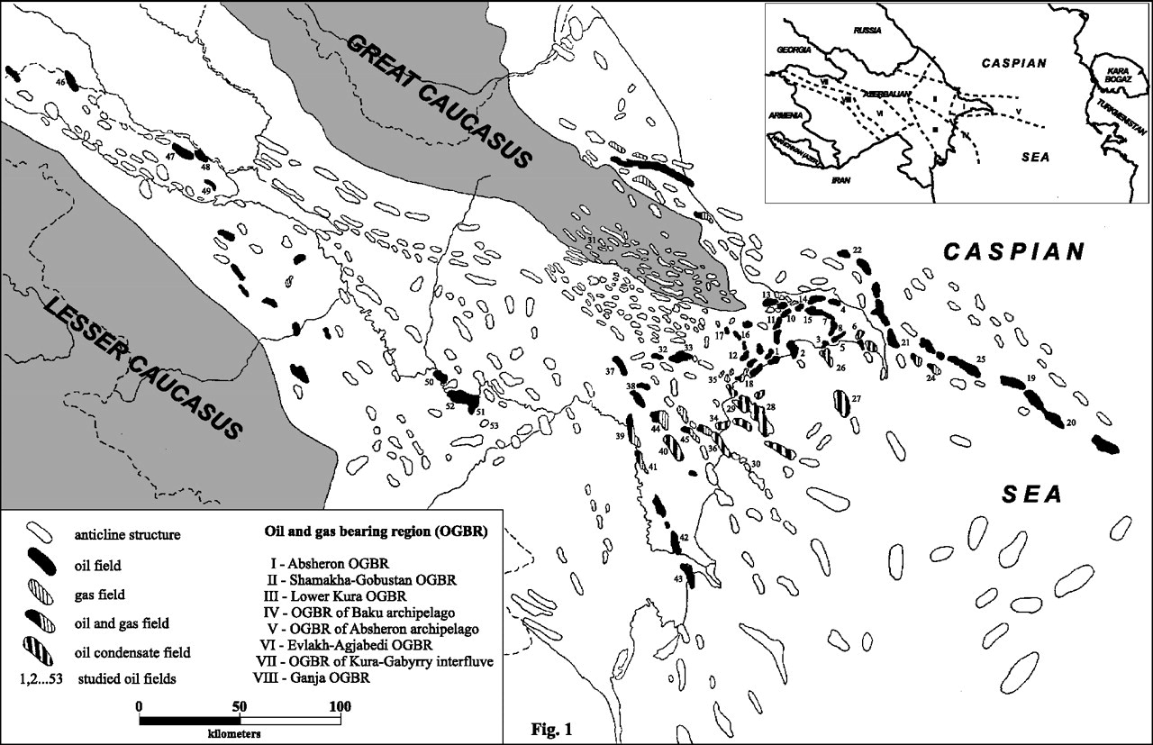 Isotope geochemistry of oils from fields and mud volcanoes in the